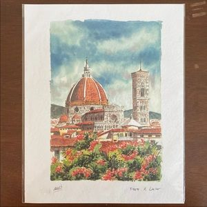 Firenze il Duomo Signed Imported Art Print